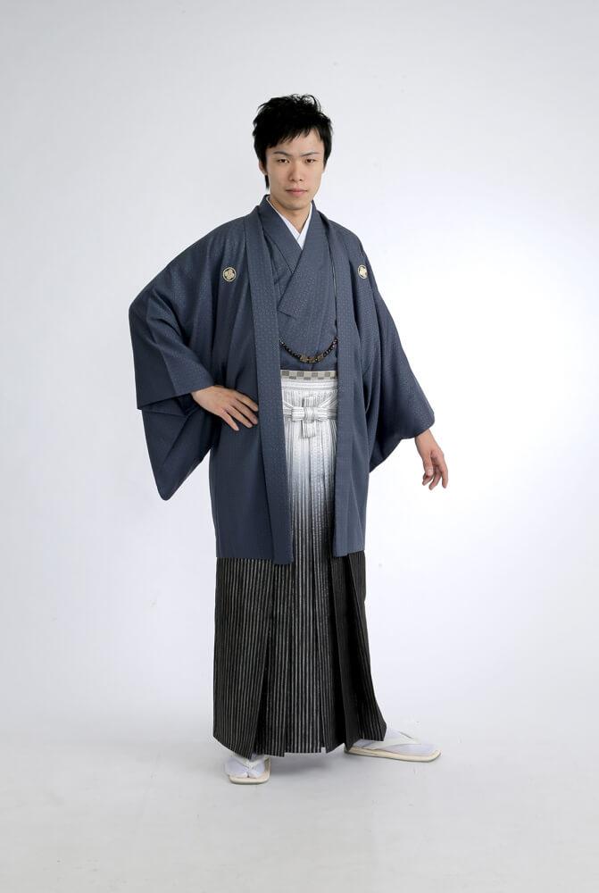 紋付袴 灰