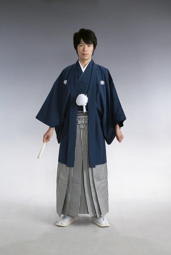 紋付袴 紺