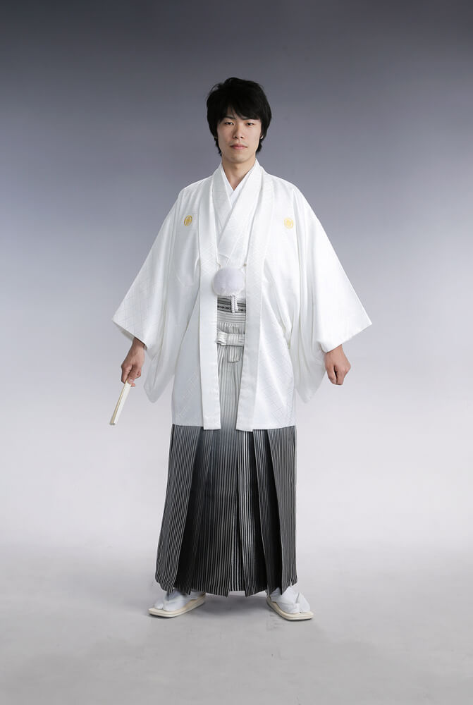 紋付袴 白